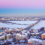 Зимние виды Воронежа в феврале