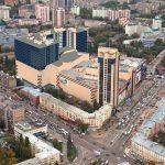 Вид сверху в Воронеже, центр города фото