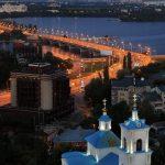 Тихвенно-Онуфриевский храм и Чернавский мост в Воронеже